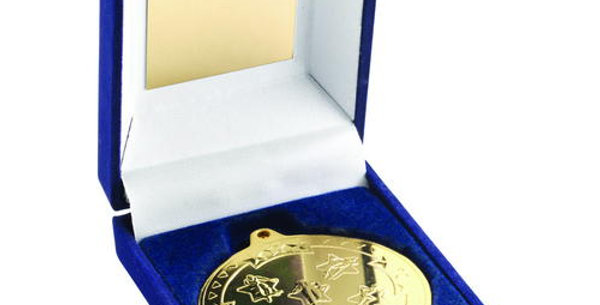 BLUE BOX AND 50mm MEDAL MULTI ATHLETICS