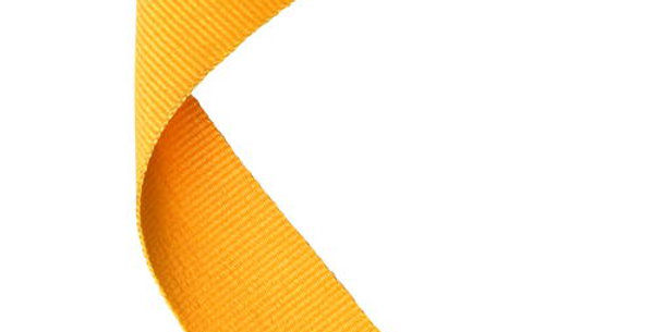 MEDAL RIBBON YELLOW - 30 X 0.875in