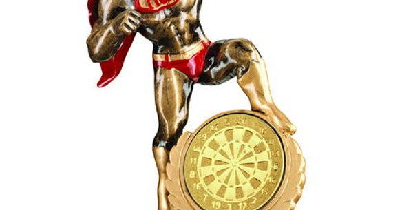 B 'HERO' AWARD WITH DARTS INSERT - 7.25in