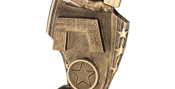 DOMINOES CURVED PLAQUE TROPHY