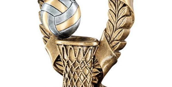 BRZ/PEW/GOLD NETBALL 3 STAR WREATH AWARD TROPHY