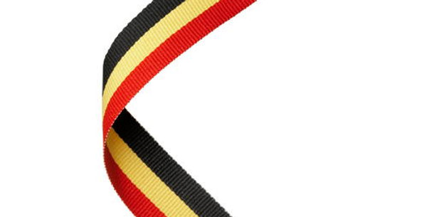 MEDAL RIBBON RED/YELLOW/BLACK - 30 X 0.875in
