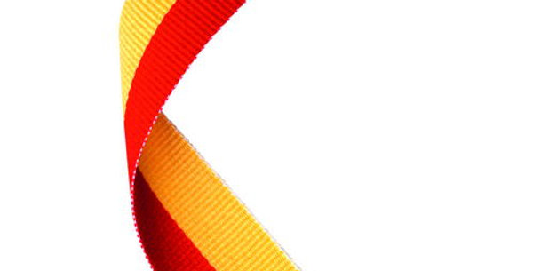 MEDAL RIBBON RED/YELLOW - 30 X 0.875in