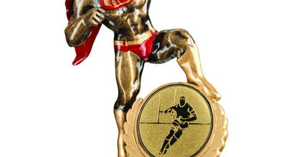 'HERO' AWARD WITH RUGBY INSERT - 7.25in