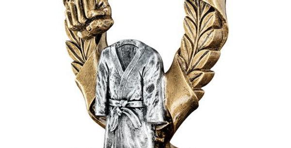 BRZ/PEW/GOLD MARTIAL ARTS 3 STAR WREATH AWARD TROPHY
