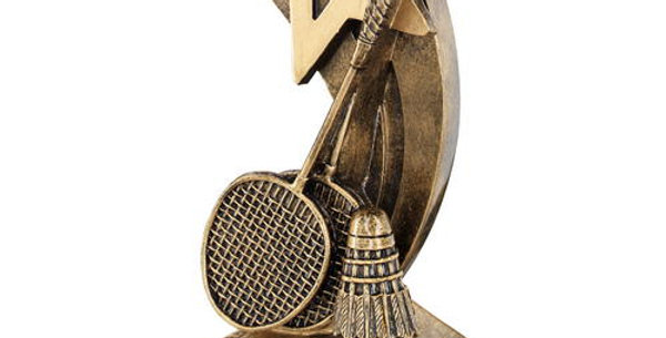 BADMINTON RACKETS/SHUTTLECOCK WITH SHOOTING STAR TROPHY