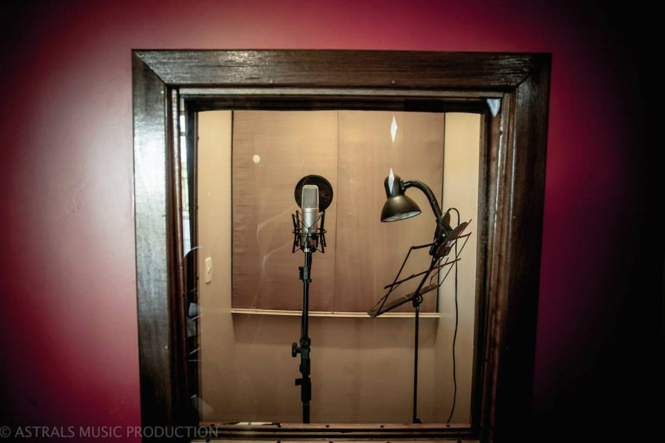 sala de gravação de voz