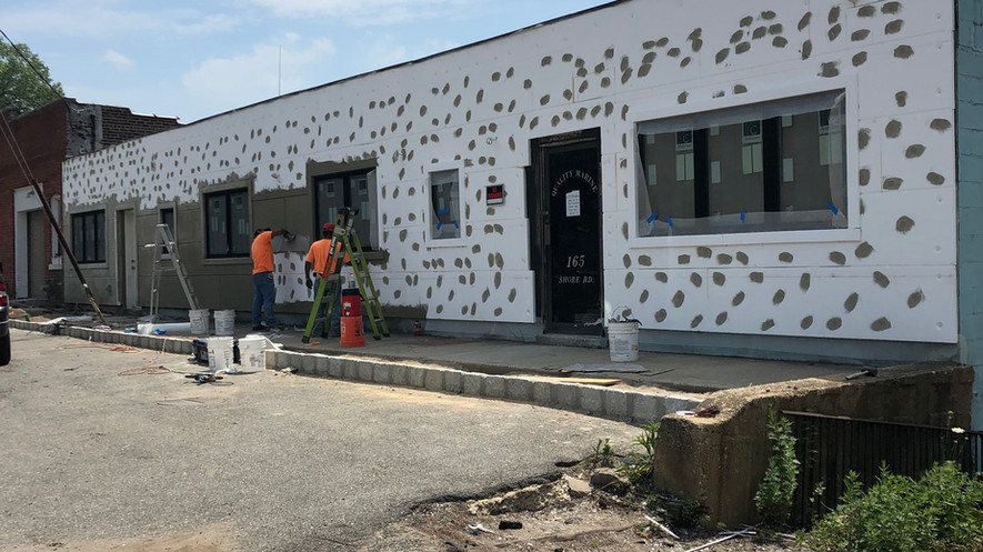 During - Complete renovation of 3000 sq ft building to create sales office for Long Island's highest end luxury condominium development