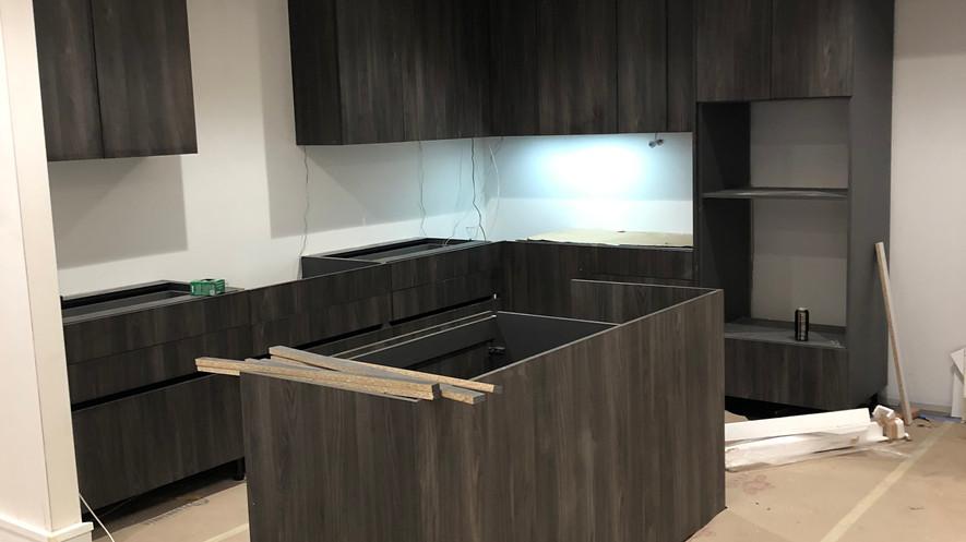 Staged sales kitchen - in progress