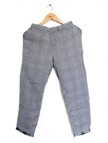 Double Weave Black Checkered Comfort Fit ' Organic Cotton ' Bottom