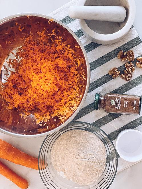 Carrot Walnut Loaf or Cake (Plant-based)