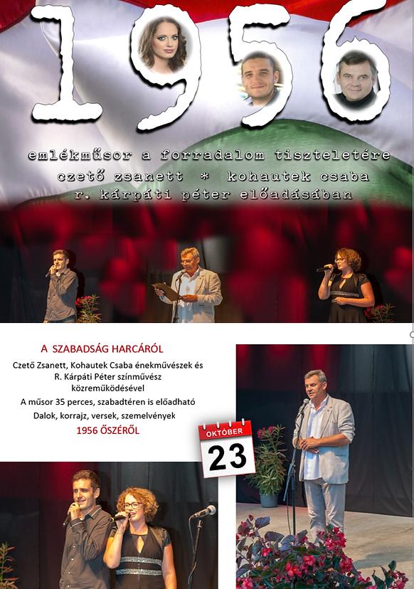 Október 23-i emlékműsor