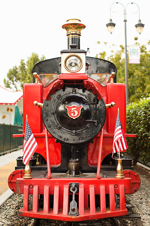 Front of Number 5 Nut Tree Train