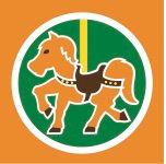 Carousel horse graphic