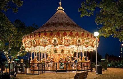 Nut Tree Carousel at night