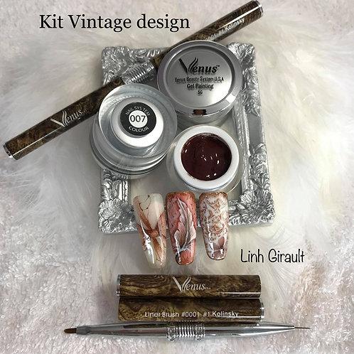 Venus Gel Painting Vintage kit (3 pcs) by Linh Girault