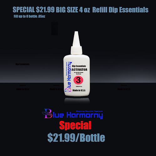 Blue Harmorny BIG SIZE 4 oz  Refill Dip Essentials #3