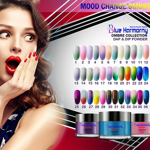 MOOD CHANGE OMBRE DIP&DAP POWDER 36 COLOR COLLECTION