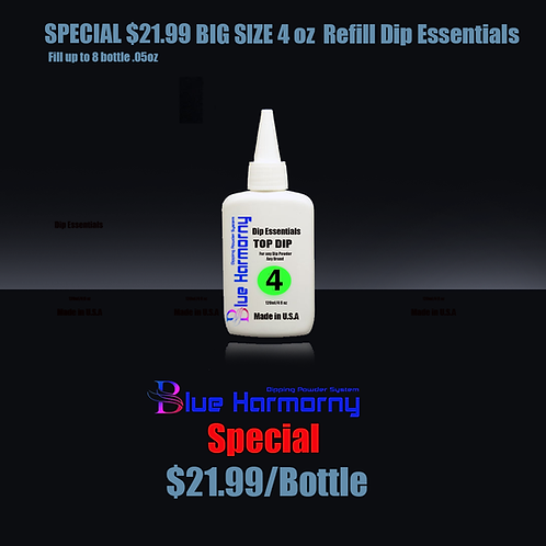 Blue Harmorny BIG SIZE 4 oz  Refill Dip Essentials #4