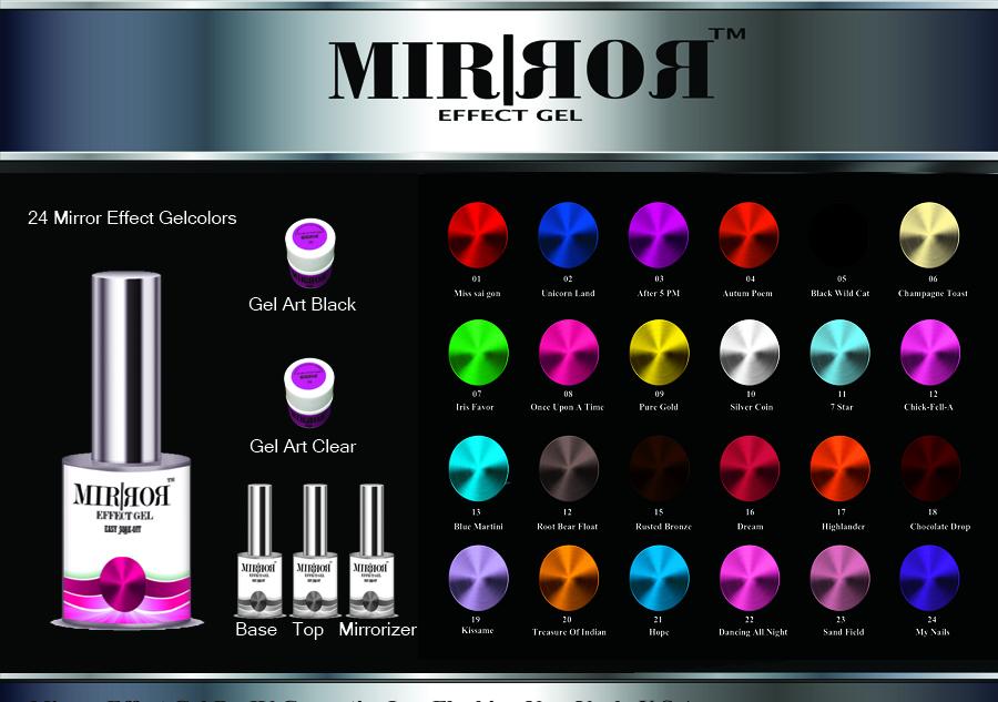 mirror gel color chart