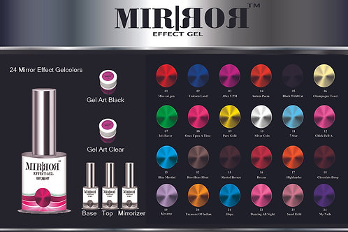 Mirror Effect Gel Polish 10pcs kit