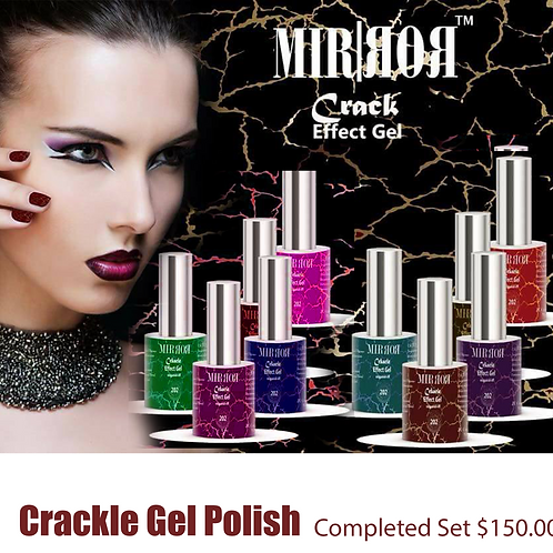 MIRROR EFFECT CRAKLE GEL 10/PCS SET