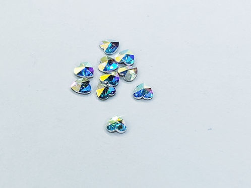 High Quality Small Heart Crystal 10pcs/jar #17