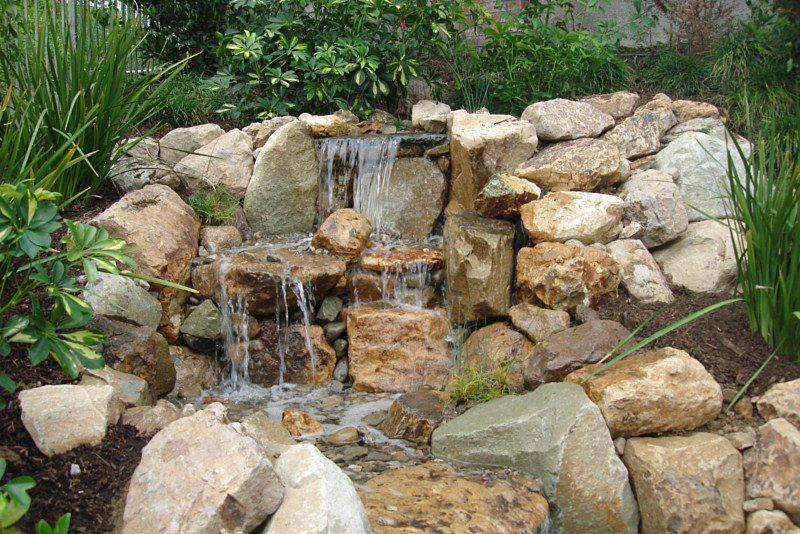 rocky waterfall feature