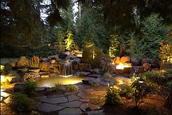 lighting landscape installation