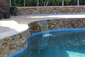 water feature in pool