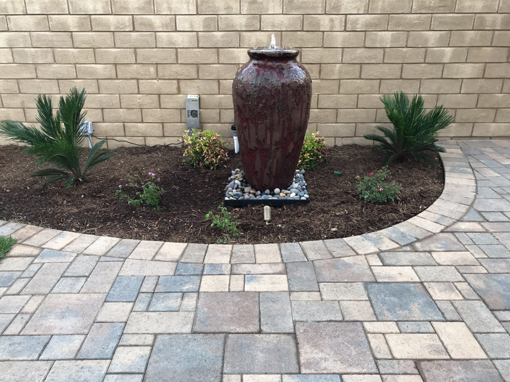 water feature in yard