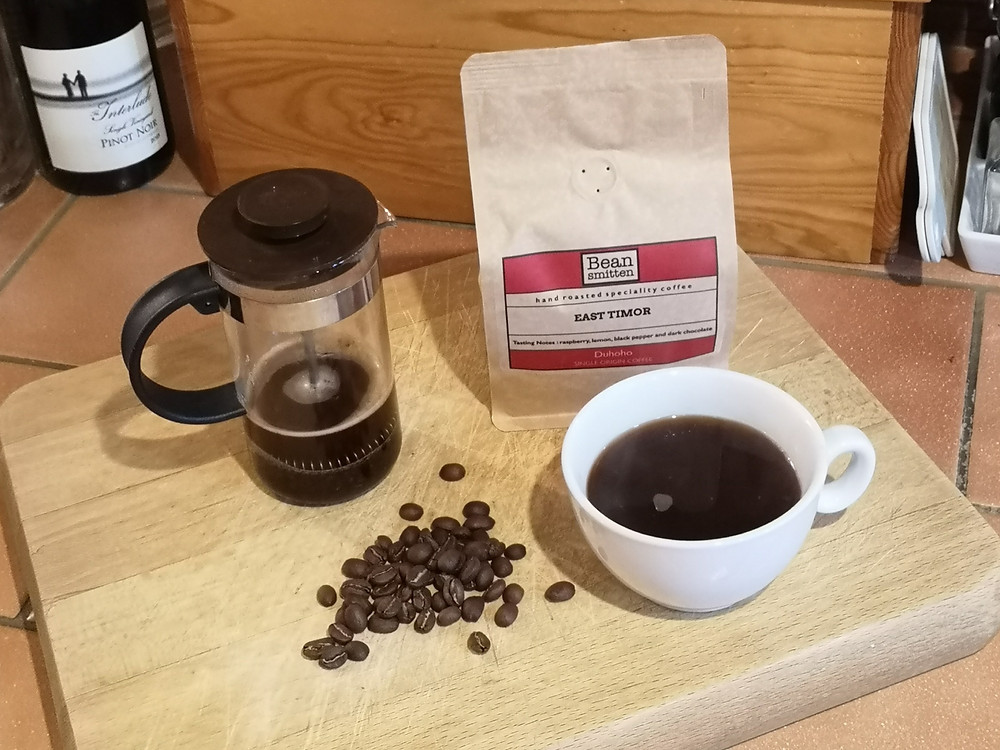 East Timor Coffee Beans Bean Smitten Ground for Cafetiere