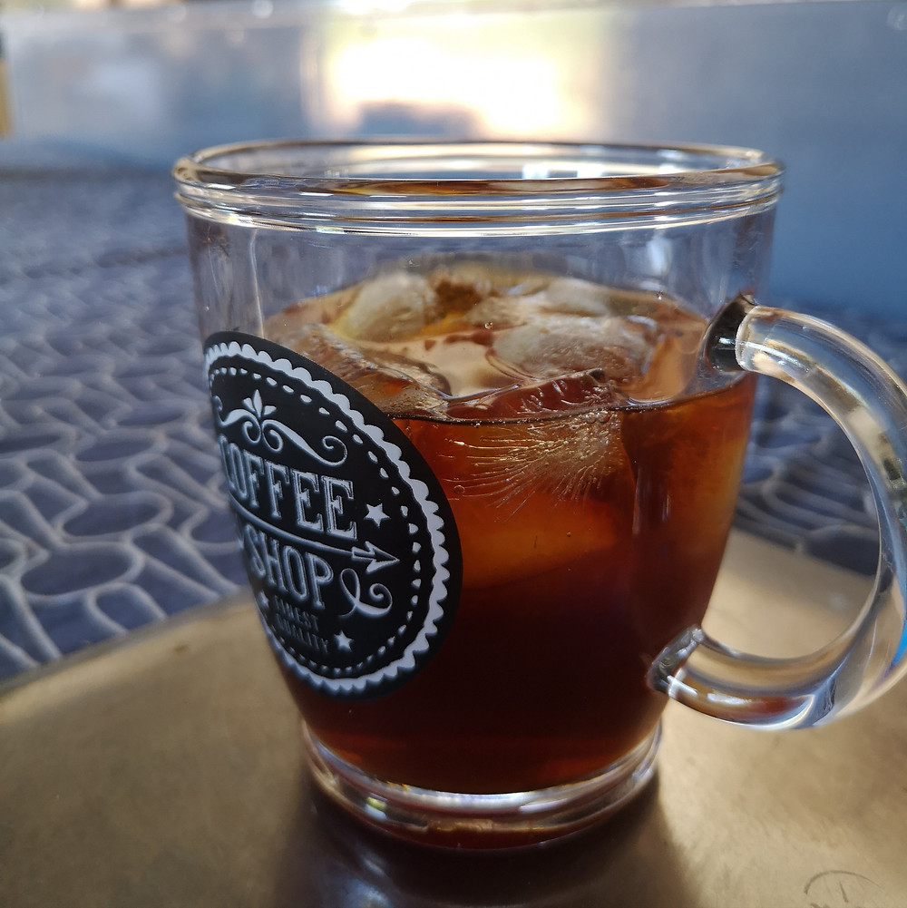 Iced coffee made with Bean Smitten Sunshine Blend
