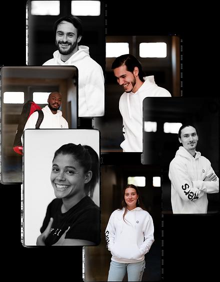mosaïque de photos des membres de l'équipe Fiters