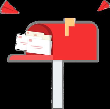 Boîte aux lettres rouge