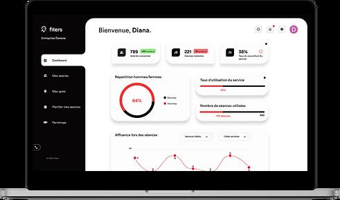 écran du dashboard de la plateforme de gestion Fiters.png