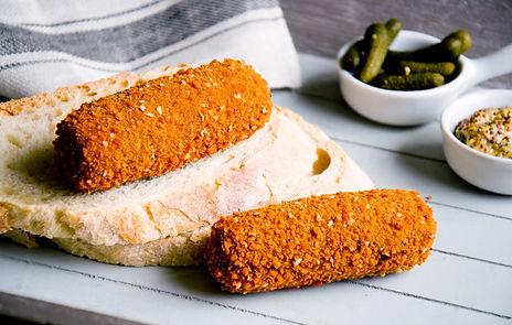 Biologische Rundvleeskroketten op brood   Royal Spelt
