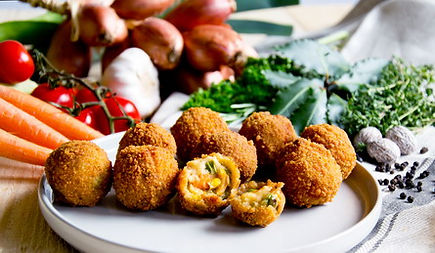 Aanbieding veganistische bitterballen