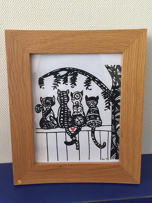 4 Graffiti Cats