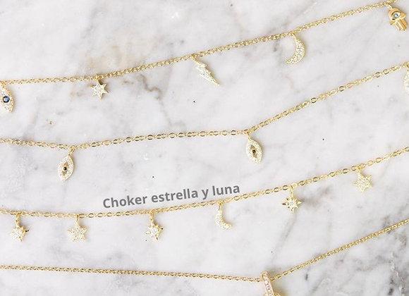 Choker Estrellas y Lunas