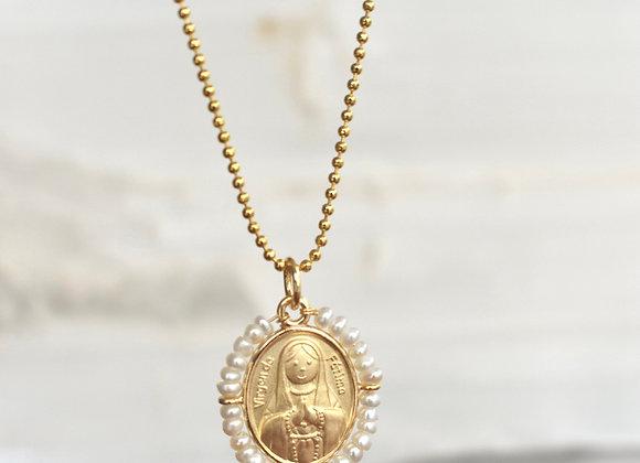 Medalla Bordada Virgen de Fátima