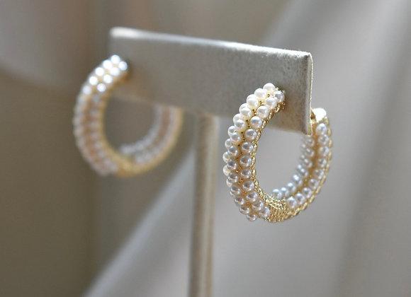 Arracadas Forradas Perlas