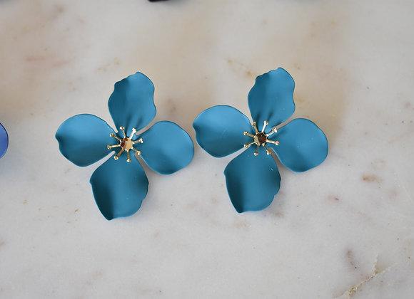Aretes flor maxi