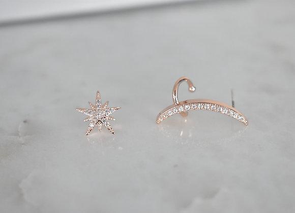 Aretes Ear Crawler y Estrella