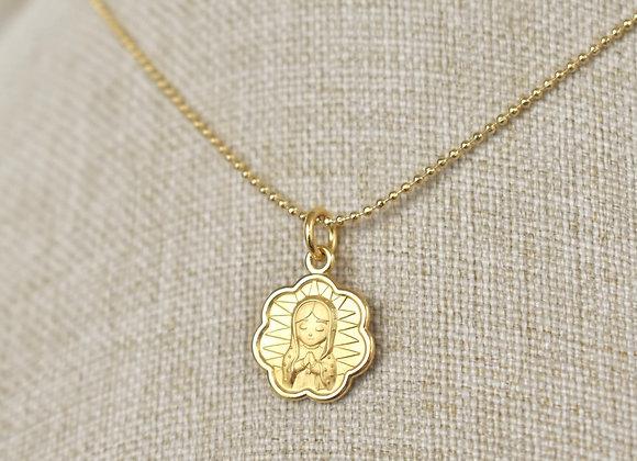 Medalla Virgen Guadalupe Flor