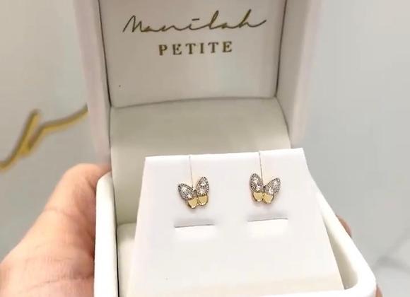 Aretes mariposa bicolor