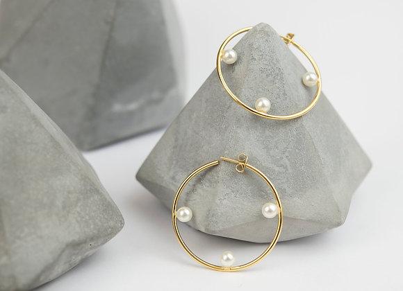 Arracadas perlas