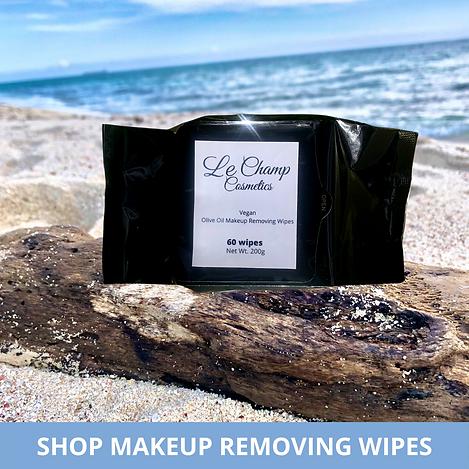 Le Champ Cosmetics Vegan Makeup Removing Wipes Jamaican Makeup Brand Dark Skin Shanique Ellington LeChampCosmetics Vegan Woman Pretty Jamaica Kingston