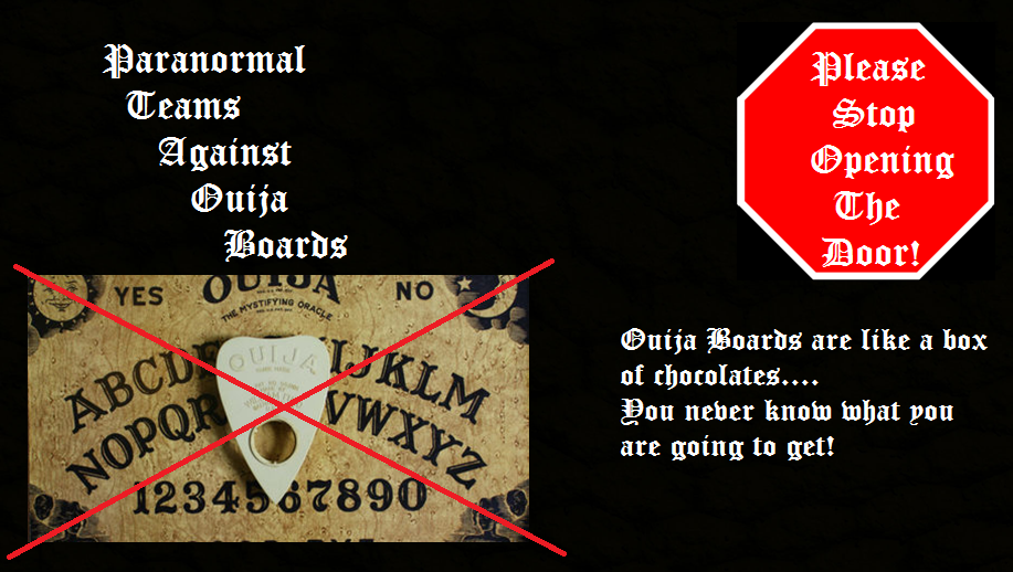 Agaist Ouija Boards.