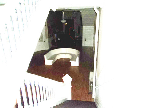 slight shadow of something near back hallway enhanced